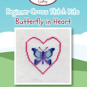 Butterfly in Heart Beginner Cross Stitch Kit