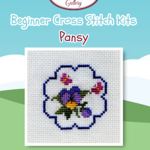 Pansy and Butterflies Beginner Cross Stitch Kit