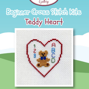 Teddy Heart - Beginners Cross Stitch Kits -0