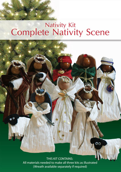 Complete Nativity Scene Kit
